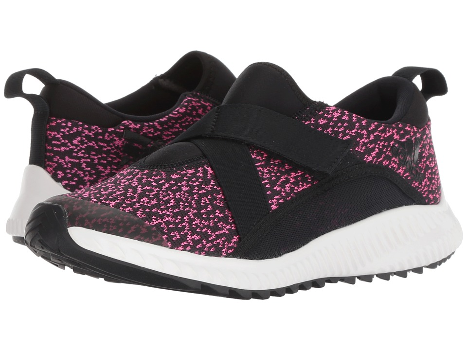 adidas Kids FortaRun X CF (Little Kid/Big Kid) (Black/Real Magenta) Girls Shoes