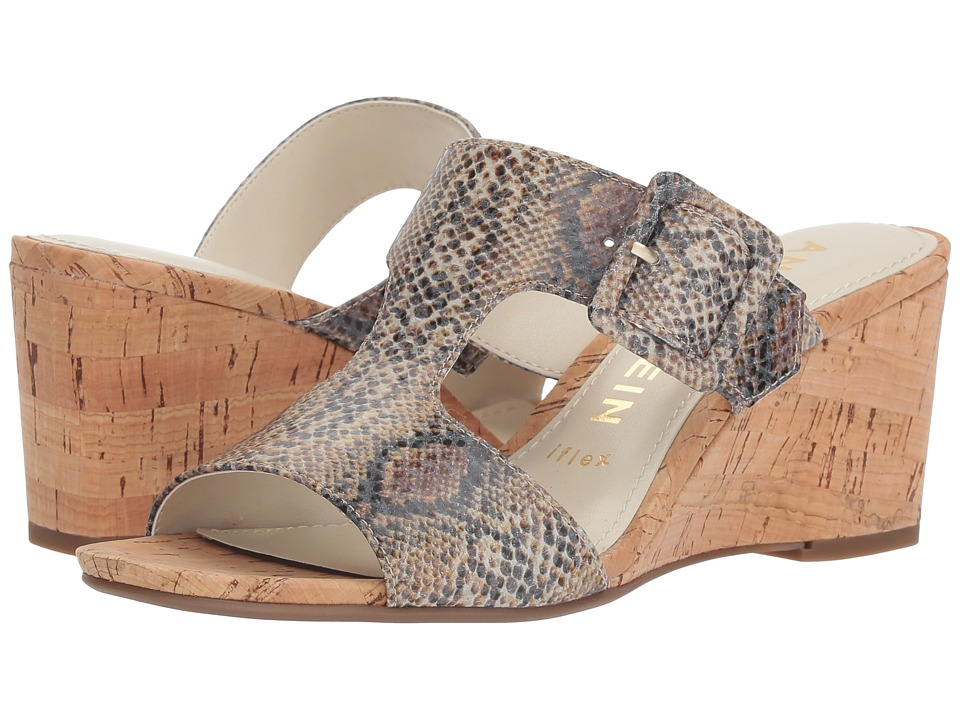 Anne Klein Nilli (Natural White Reptile) Wedges