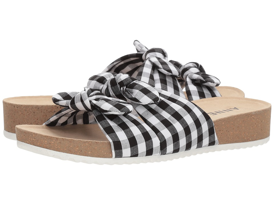 Anne Klein Quilt (Black/White) Sandals