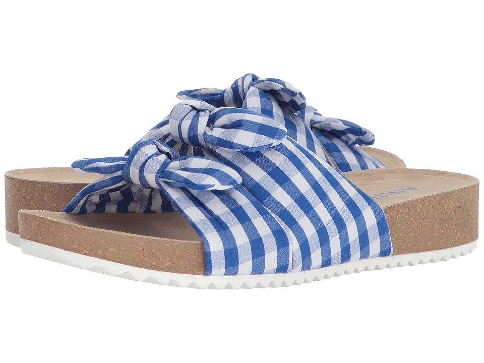 Anne Klein Quilt (Medium Blue/White Fabric) Sandals