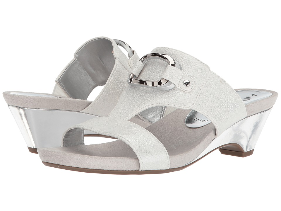 Anne Klein Teela (Off-White Synthetic) Wedges