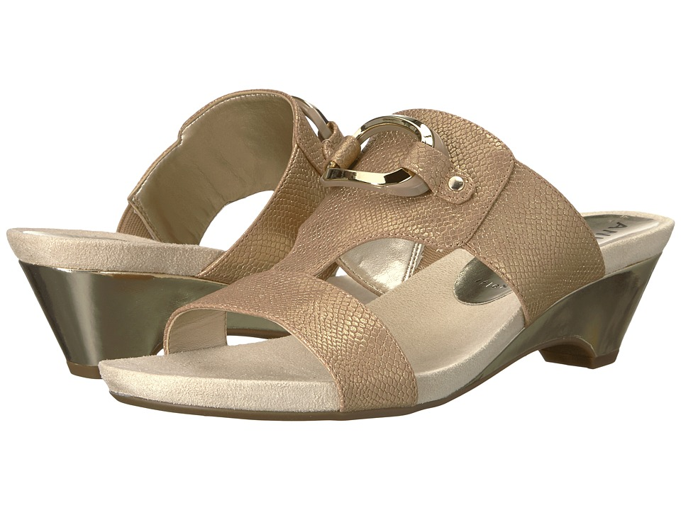 Anne Klein Teela (Light Bronze Synthetic) Wedges