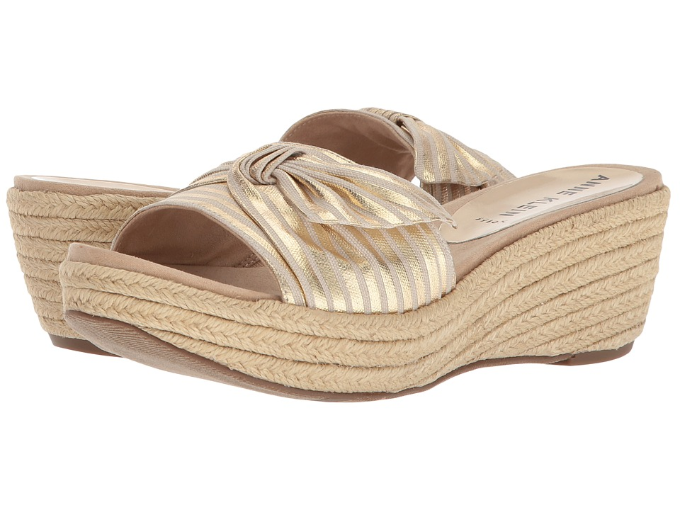 Anne Klein Zandal (Gold/Natural) Wedges