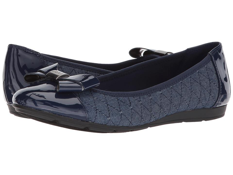 Anne Klein - Alphia (Blue Multi Fabric) Womens Flat Shoes