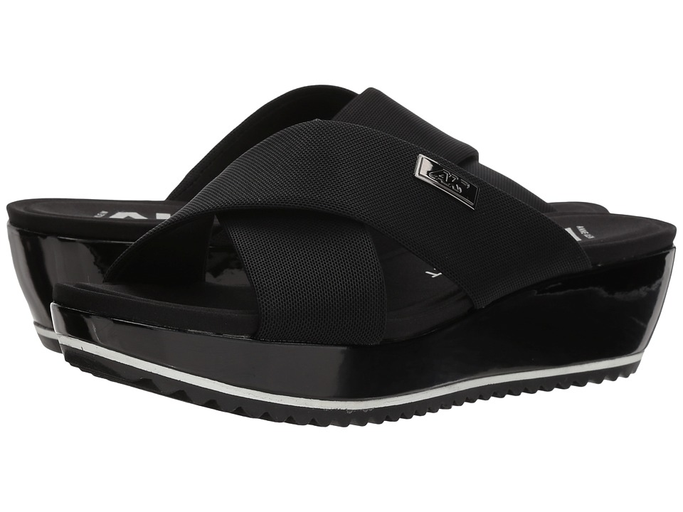 Anne Klein - Felisha (Black Fabric) Womens Wedge Shoes