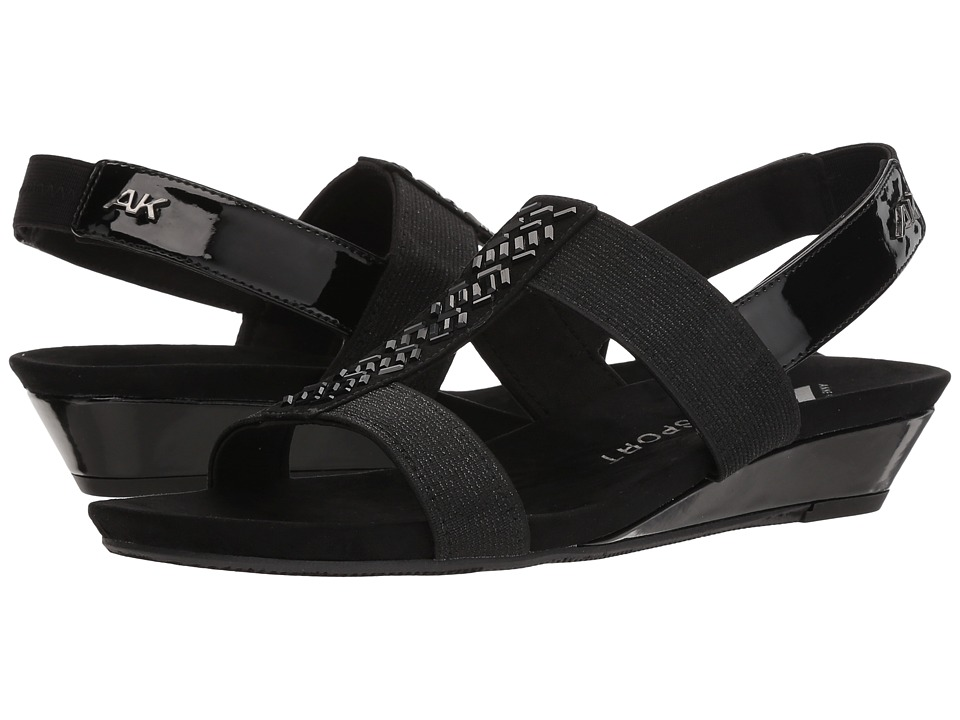 Anne Klein - Idolize (Black Multi Fabric) Womens Dress Sandals