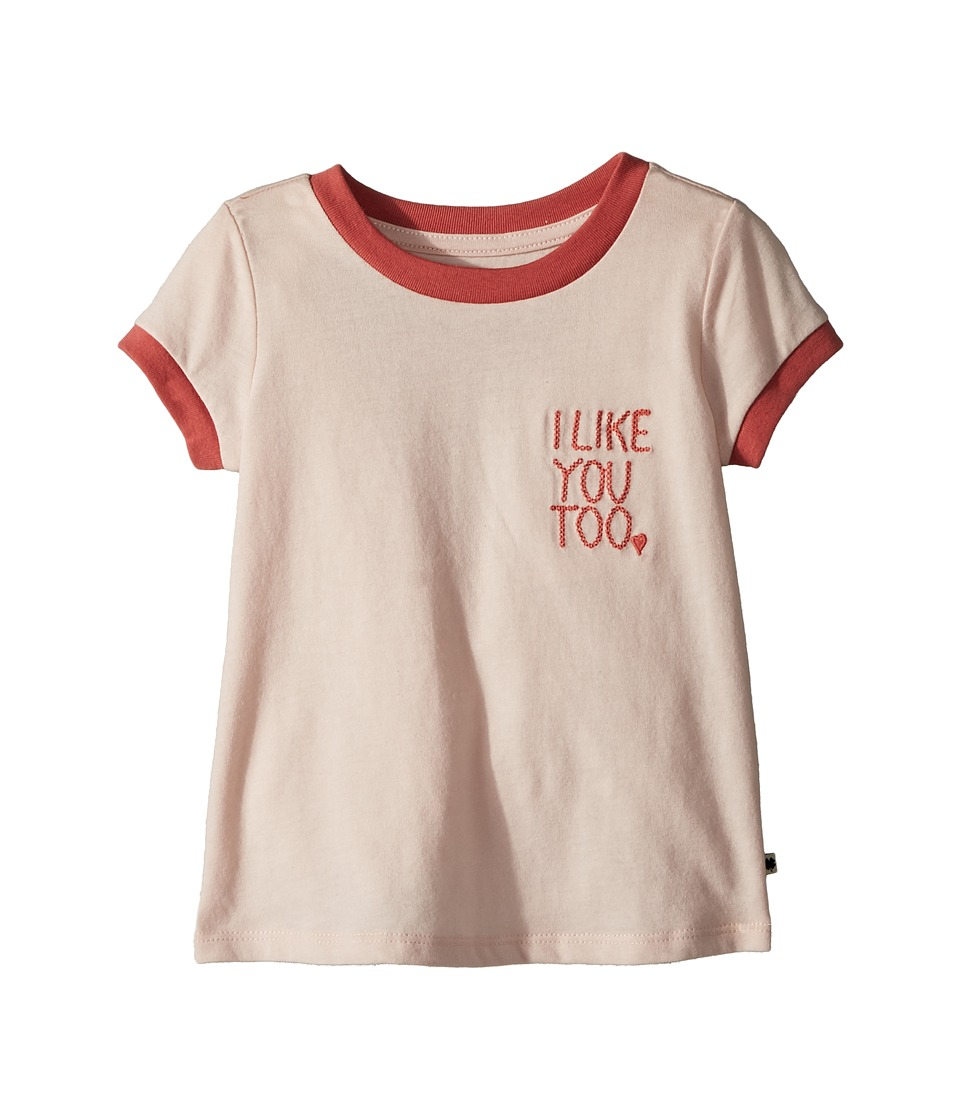 Lucky Brand Kids - Jocelyn Tee (Toddler) (Peach Blush) Girls T Shirt