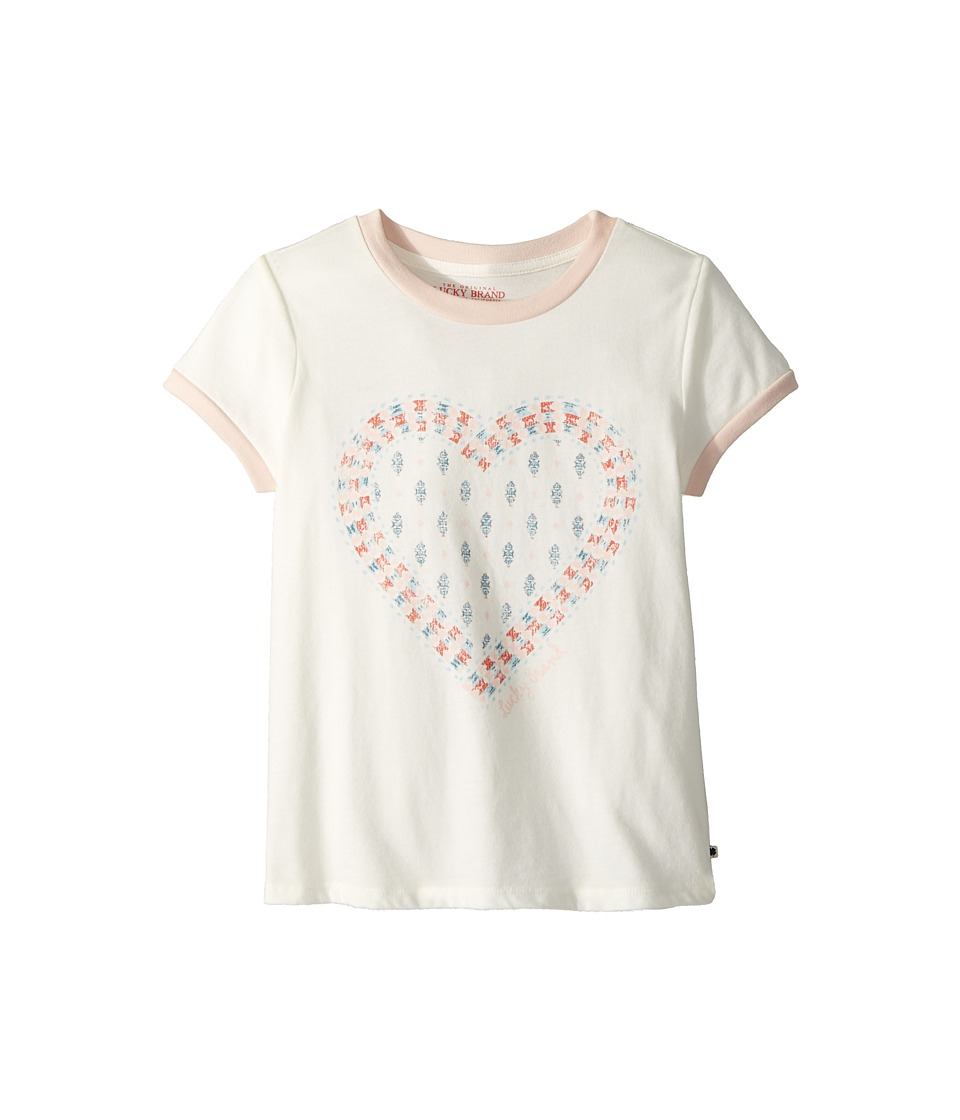 Lucky Brand Kids - Adenia Graphic Tee (Big Kids) (Marshmallow) Girls T Shirt