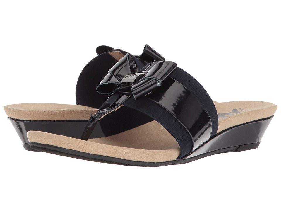 Anne Klein Impeccable (Dark Navy/Dark Navy Synthetic) Wedges