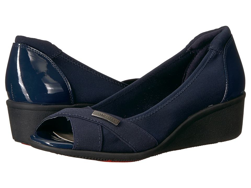 Anne Klein Jetta (Navy Multi Fabric) Wedges