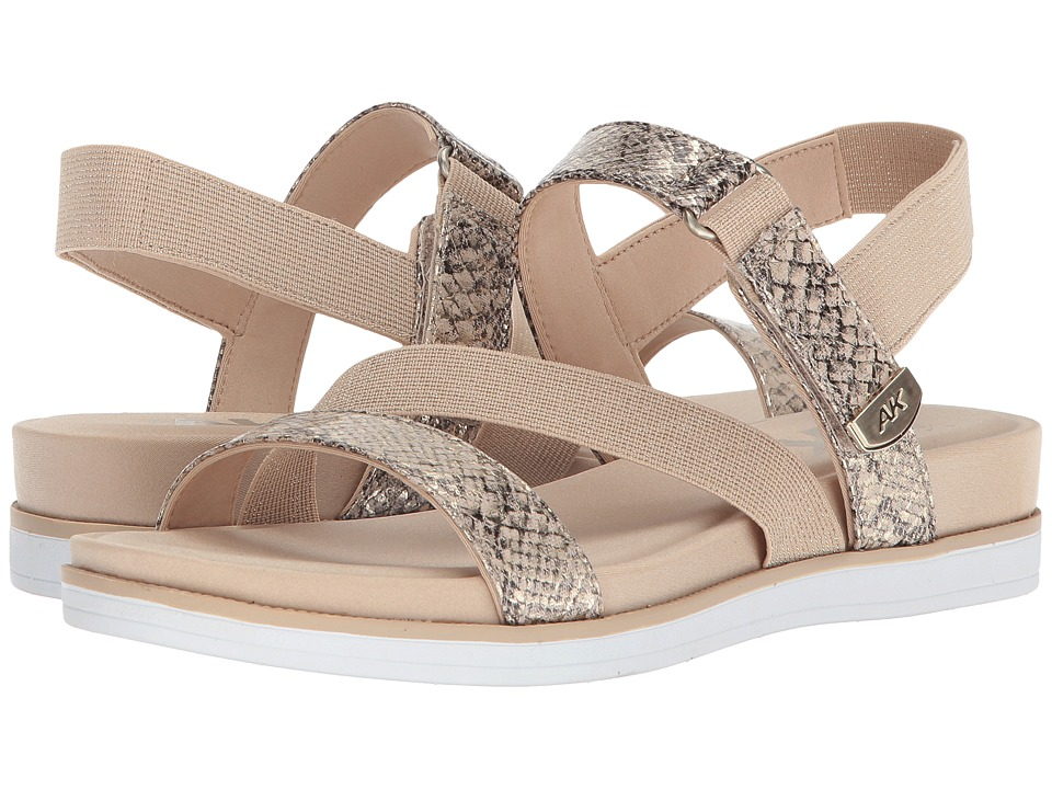 Anne Klein Nolita (Light Natural/Light Gold/Medium Natural Fabric) Sandals