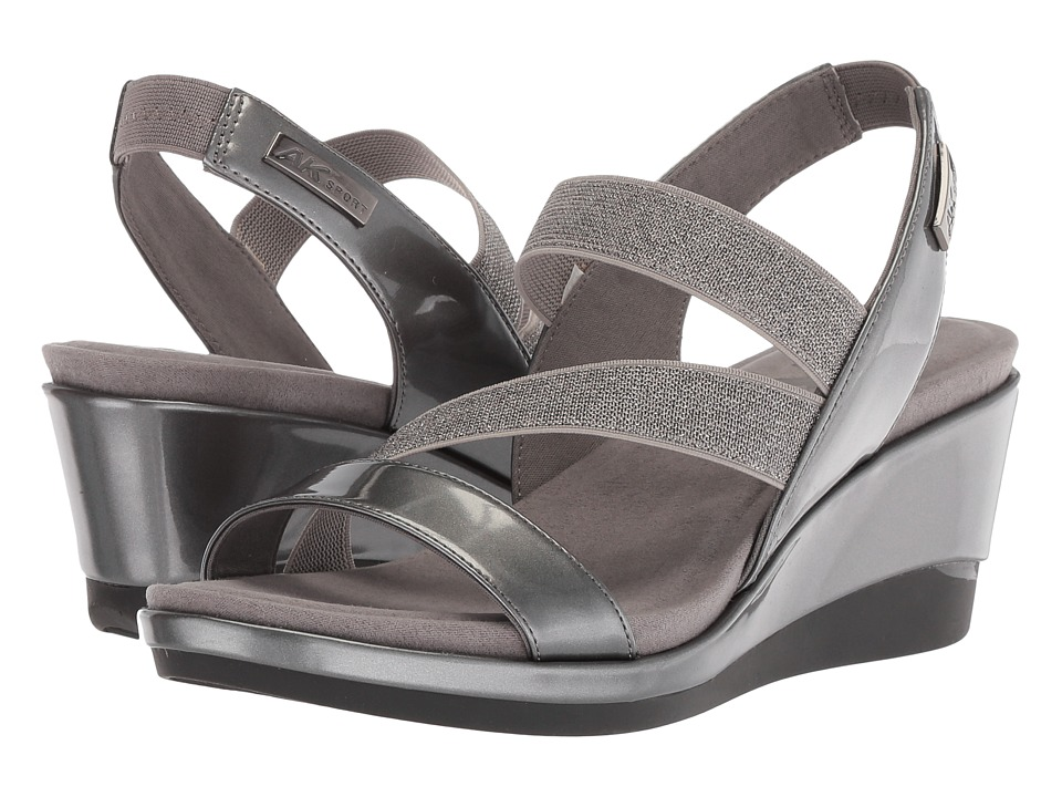 Anne Klein Peppina (Pewter/Pewter Synthetic) Wedges