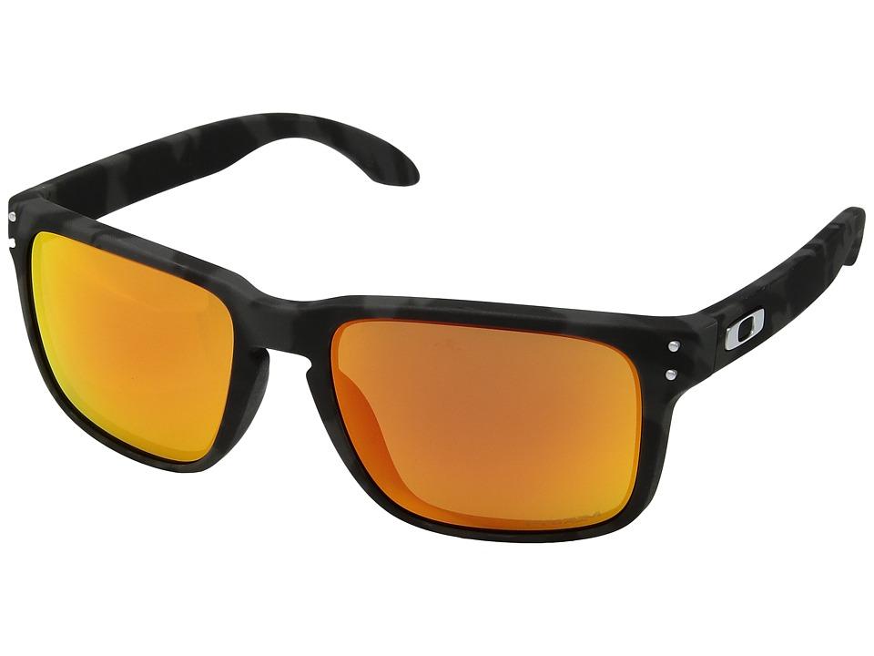 Oakley Holbrook (Black Camo w/ Prizm Ruby) Sport Sunglasses