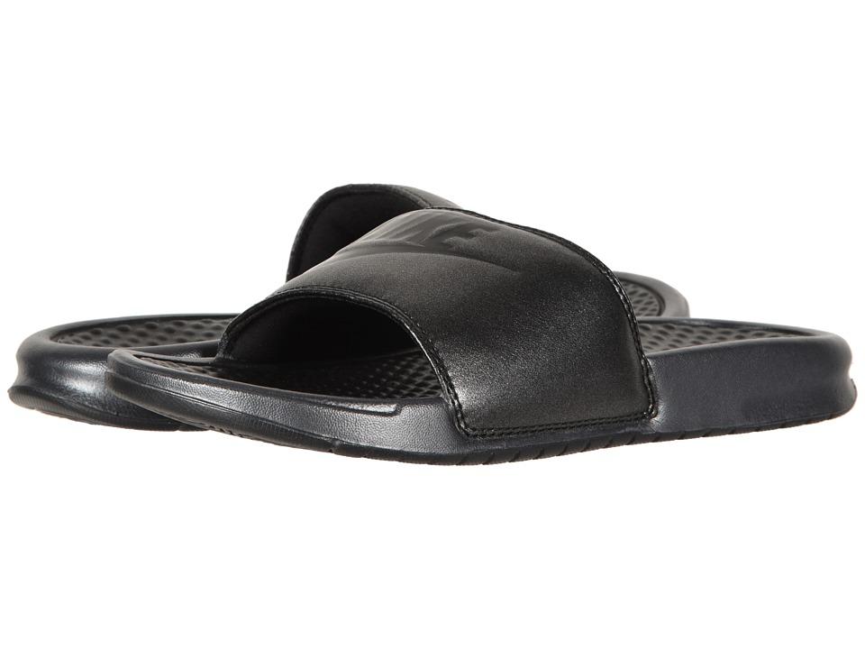 Nike - Benassi Just Do It Sandal (Metallic Black/Black) Womens Sandals