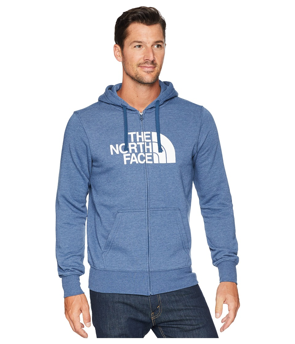 The North Face Half Dome Full Zip Hoodie (Shady Blue Heather/TNF White) Men