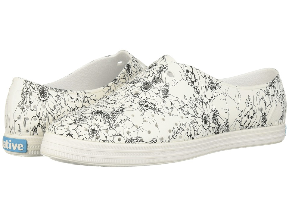 Native Shoes Jericho (Shell White/Shell White/Black Jardin) Women's Shoes