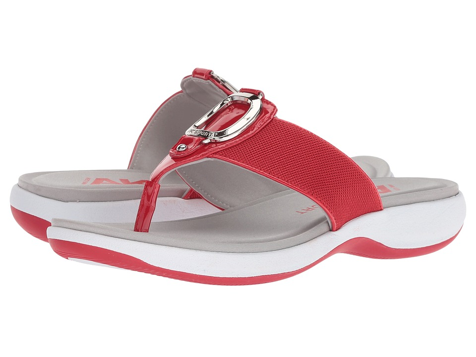 Anne Klein Quartet (Medium Red) Sandals