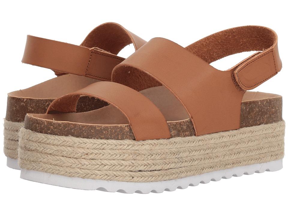 Dirty Laundry Peyton Platform Sandal (Saddle Smooth) Wedges
