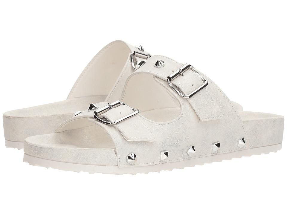 Dirty Laundry Quinn Slide Sandal (White Shimmer) Sandals