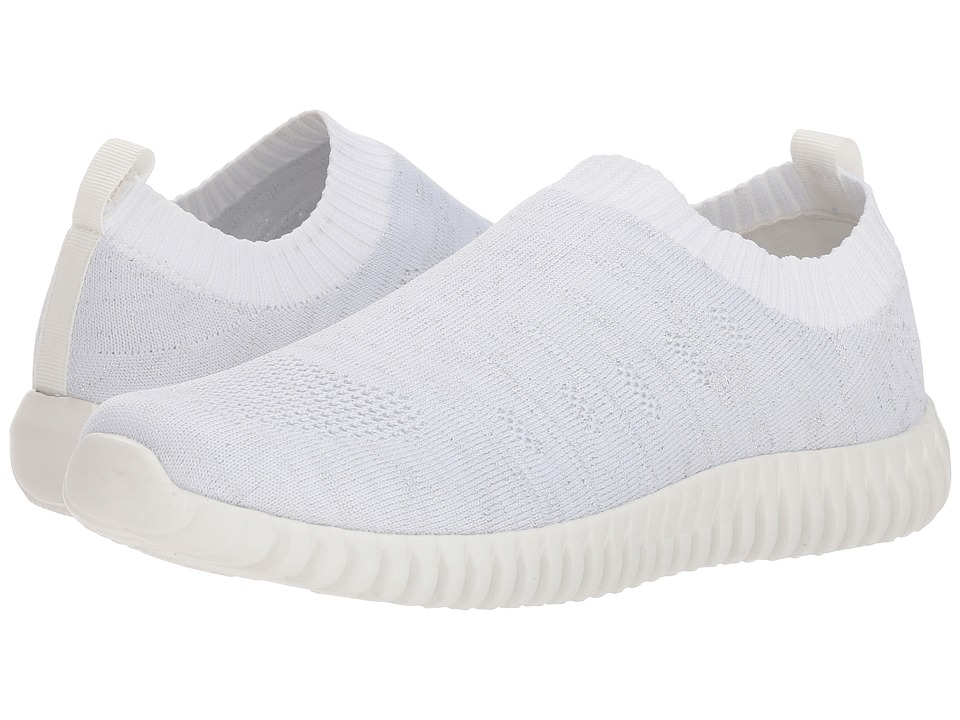 Dirty Laundry Haywood Knit Sneaker (White/Silver Knit) Slip-On Shoes