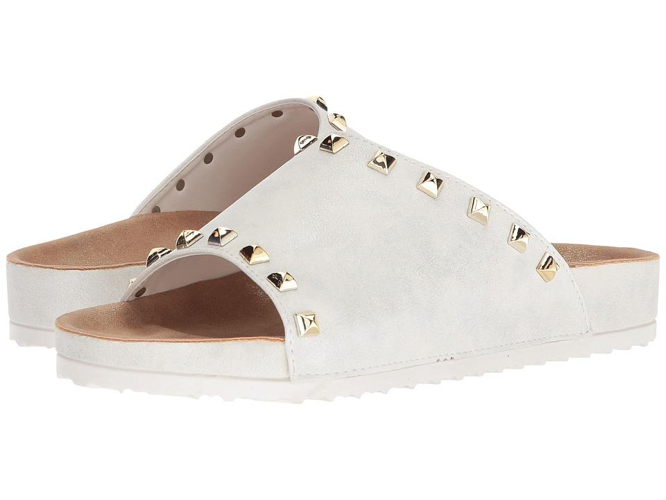 Dirty Laundry Qiana Slide Sandal (White Shimmer) Sandals