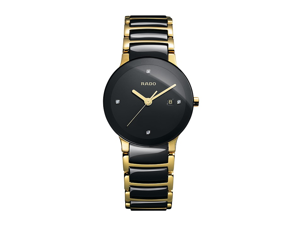 Rado Centrix - R30930712 (Two-Tone Black/Yellow Gold) Watches