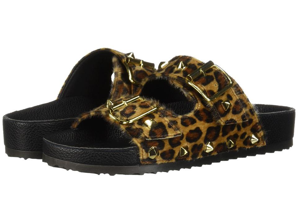 Dirty Laundry Quinn Slide Sandal (Tan Leopard Pon) Sandals