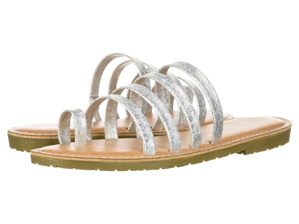 Dirty Laundry Ekia Slide Sandal (Silver Sparkle) Sandals