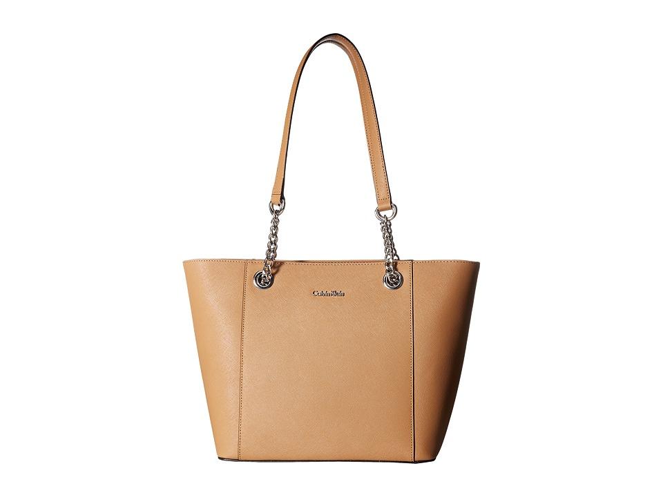 Calvin Klein Saffiano Tote (Buff) Tote Handbags