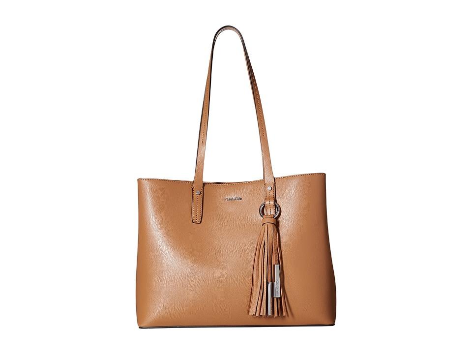Calvin Klein Mercury East/West Tote (Buff) Tote Handbags