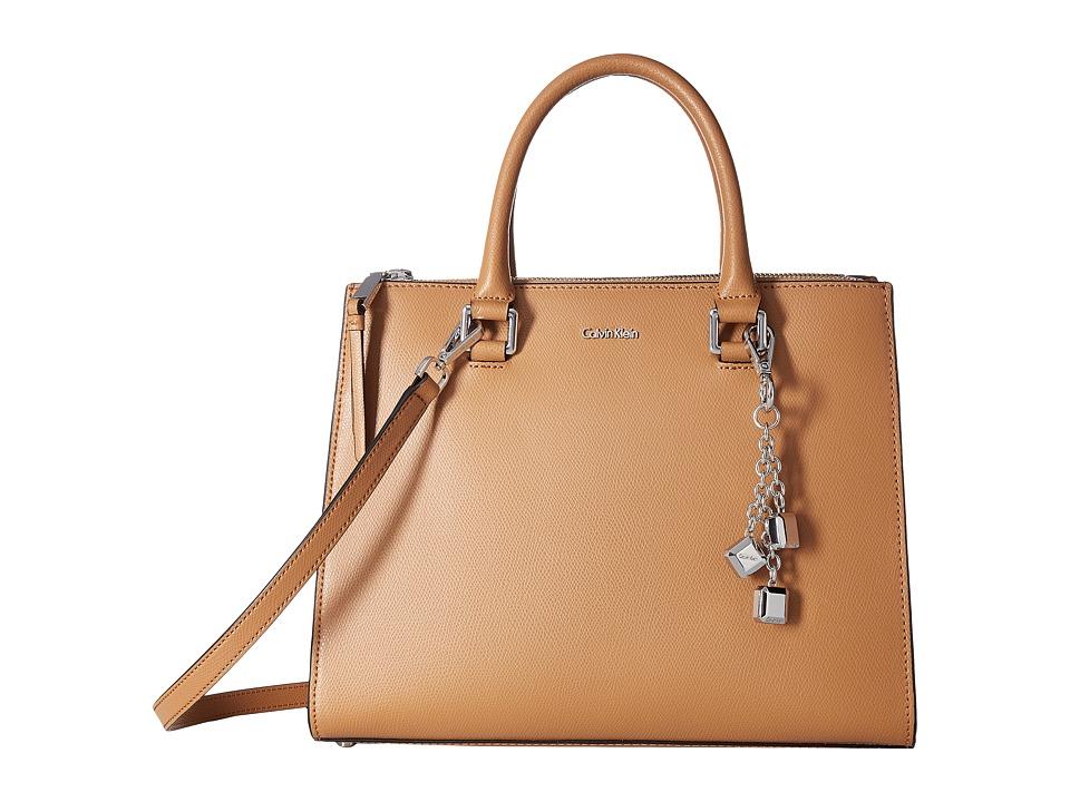 Calvin Klein Mercury Satchel (Buff) Satchel Handbags