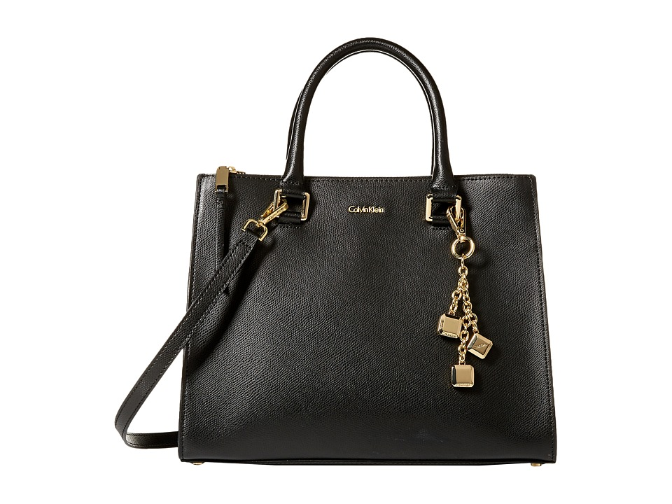 Calvin Klein Mercury Satchel (Black/Gold) Satchel Handbags