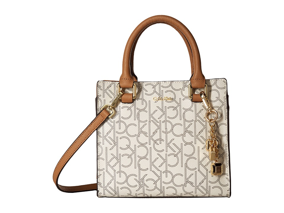 Calvin Klein - Monogram Crossbody (Almond/Khaki) Cross Body Handbags