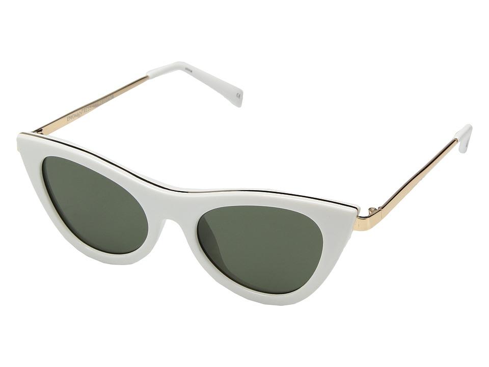 Le Specs - Enchantress (White/Khaki Mono) Fashion Sunglasses