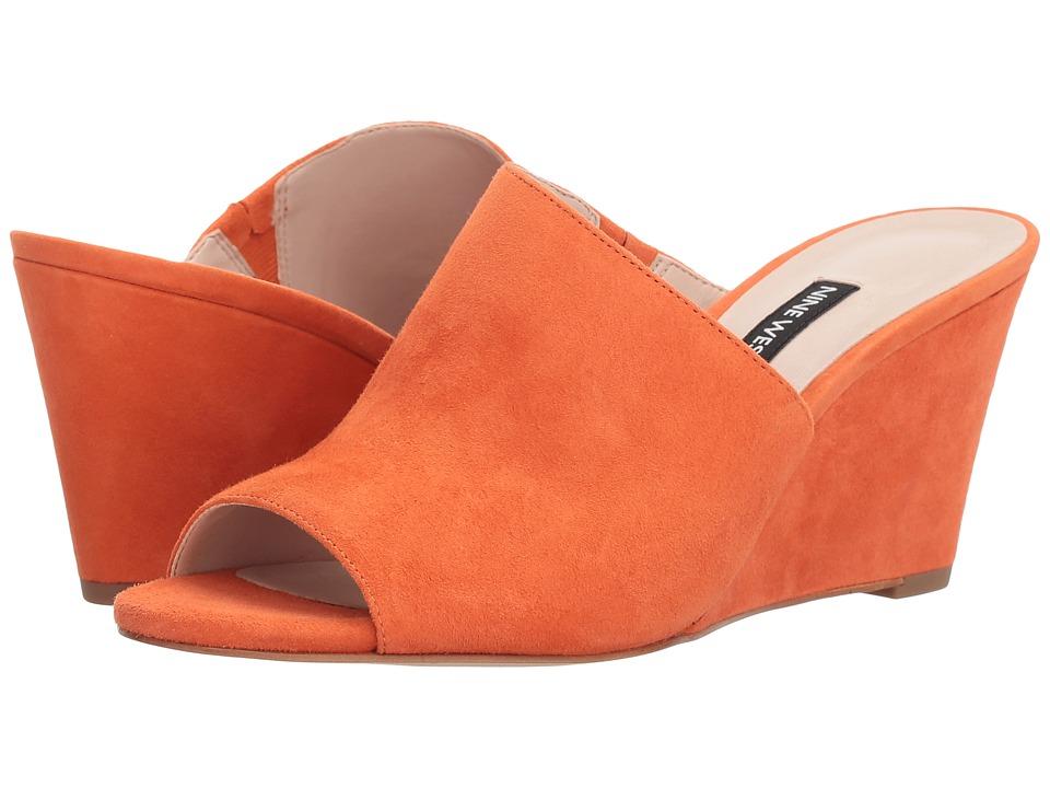 60s Shoes, Boots | 70s Shoes, Platforms, Boots Nine West - Janissah Orange Suede Womens Shoes $89.00 AT vintagedancer.com