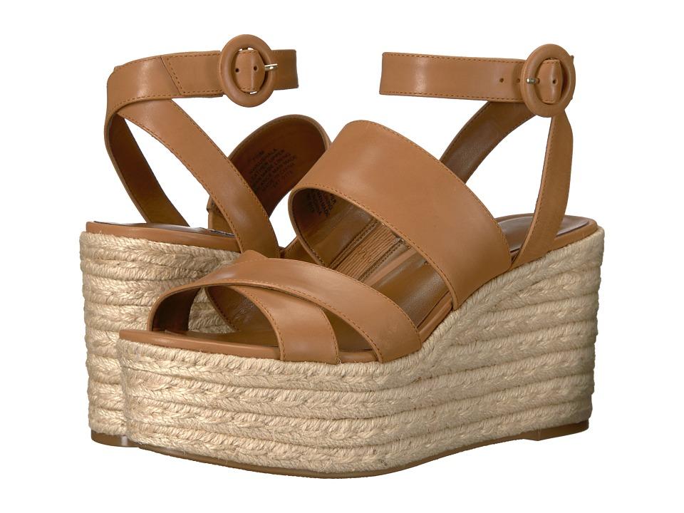 Nine West Kushala Espadrille Wedge Sandal (Dark Natural Leather) Women