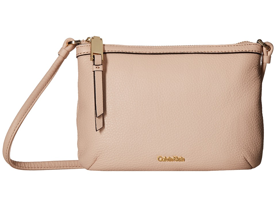 Calvin Klein - Carrie Pebble Key Item Crossbody (Dessert Taupe) Cross Body Handbags