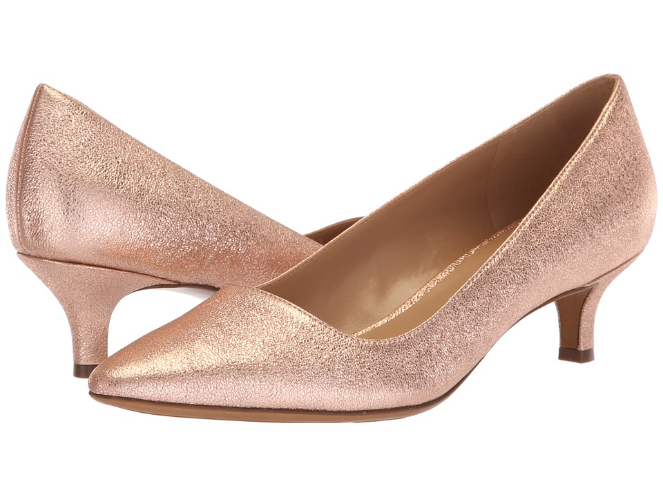 Naturalizer Pippa (Rose Gold Sparkle Metallic Leather) 1-2 inch heel Shoes