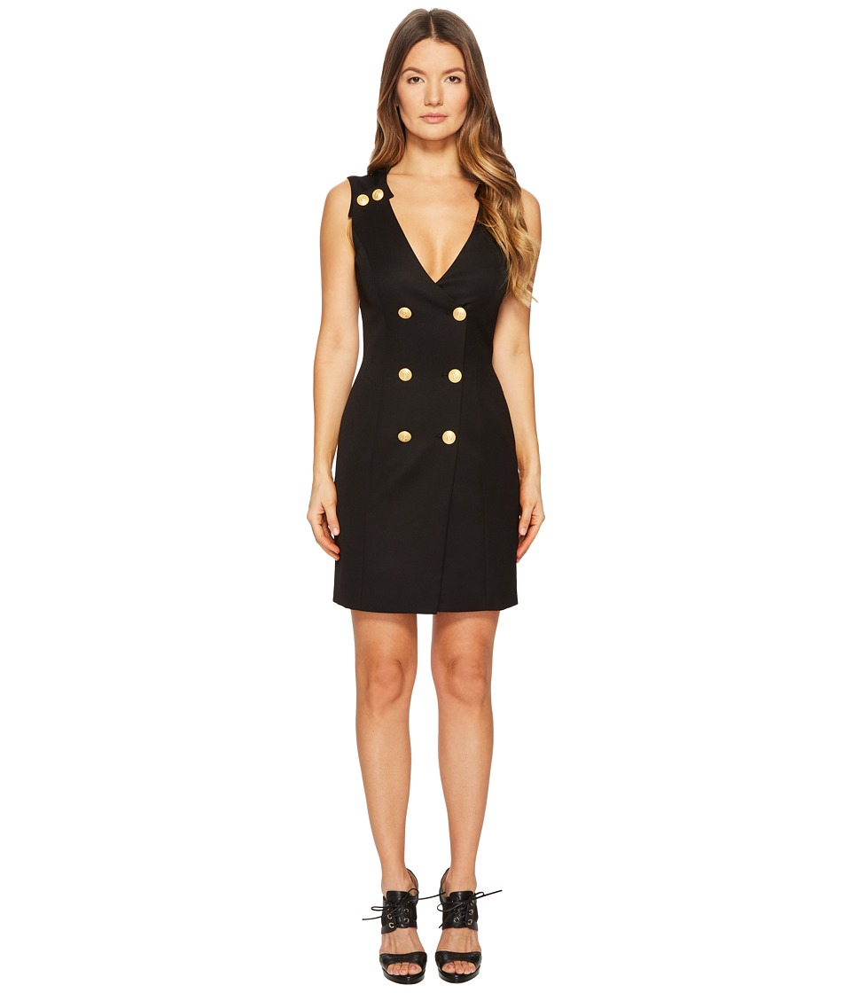 Pierre Balmain - Gold Embellished Buttoned Dress (Black) Womens Dress