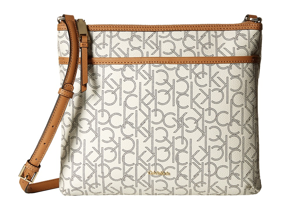 Calvin Klein - Monogram Large Crossbody (Almond/Khaki) Cross Body Handbags