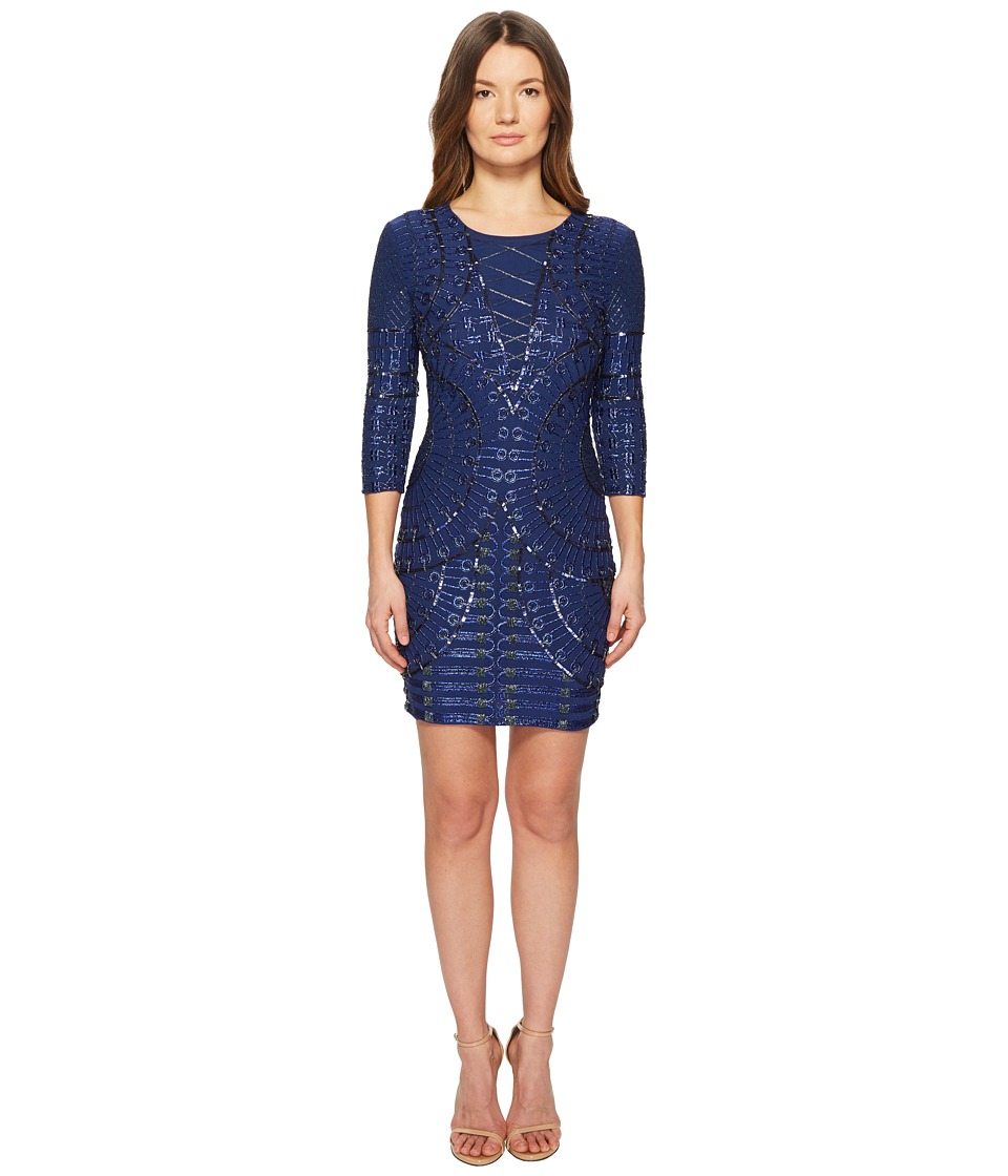 Pierre Balmain - Blues Beaded Dress (Indigo) Womens Dress