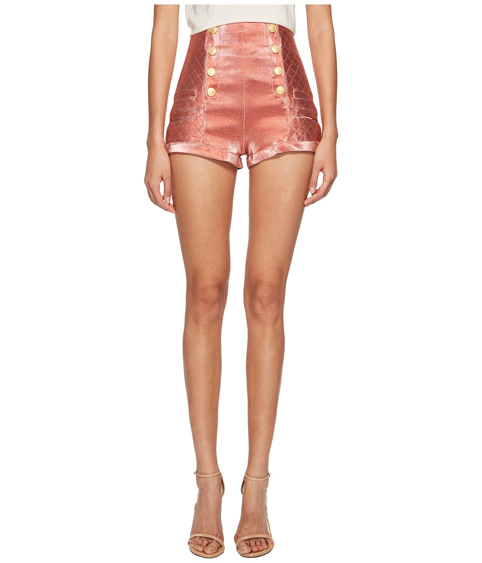 Pierre Balmain - Gold Buttoned Hotpants (Salmon) Womens Shorts