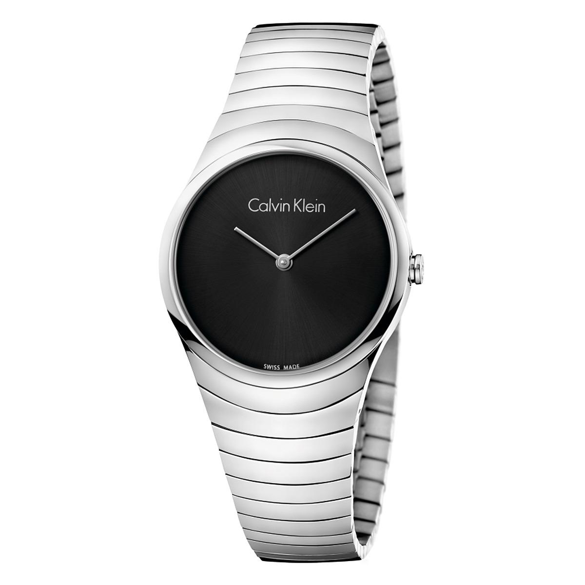 Calvin Klein Whirl Watch - K8A23141 (Black/Silver) Watches