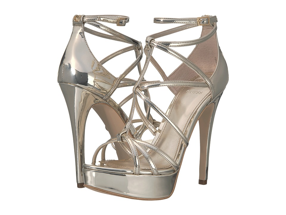 GUESS Kico (Gold Synthetic) Sandals