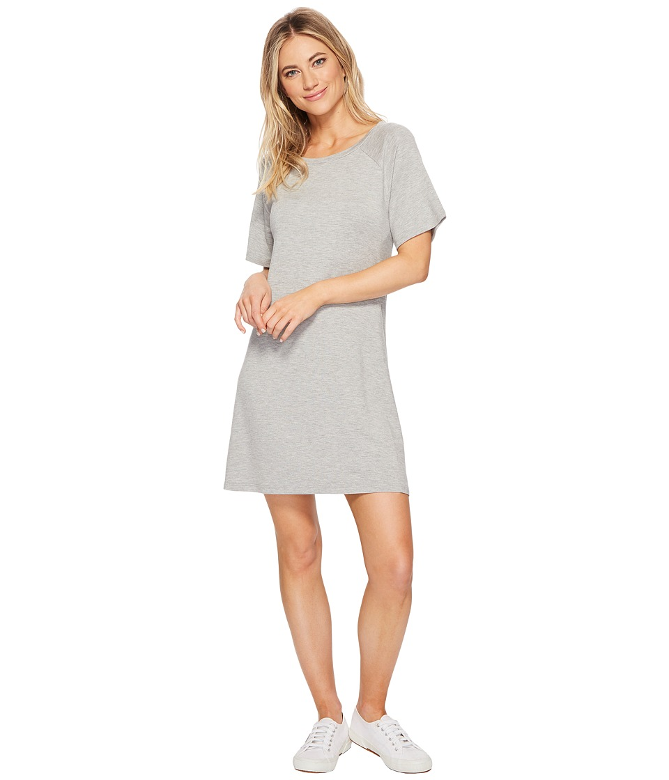 BB Dakota - Greer Soft Knit Dress (Light Heather Grey) Womens Dress