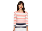 Joules Harbourhemblk Printed Jersey Top