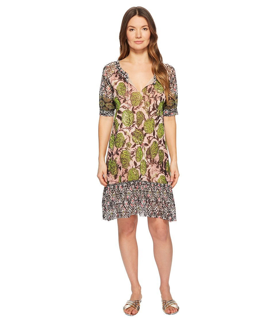 FUZZI Patchwork T-Shirt Dress (Petalo) Women