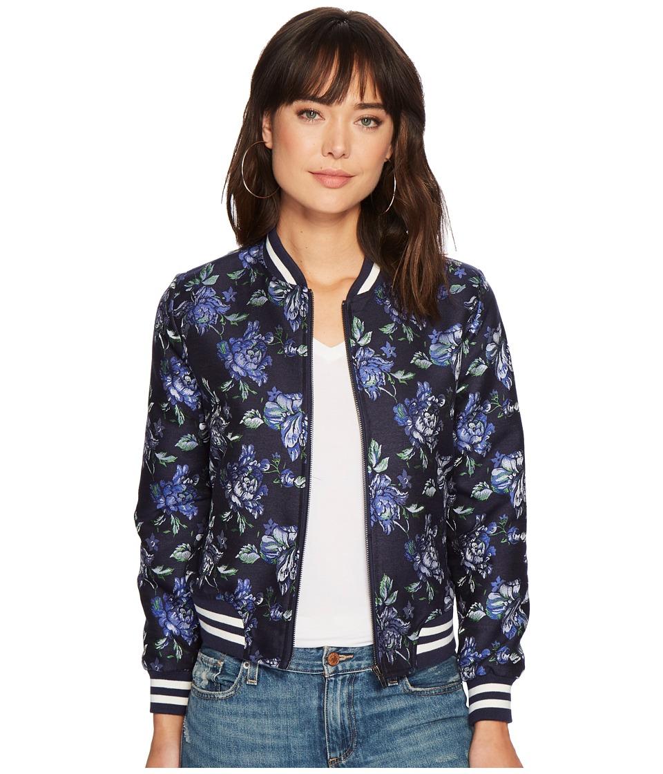BB Dakota - Zoey Jacquard Bomber (Navy) Womens Coat