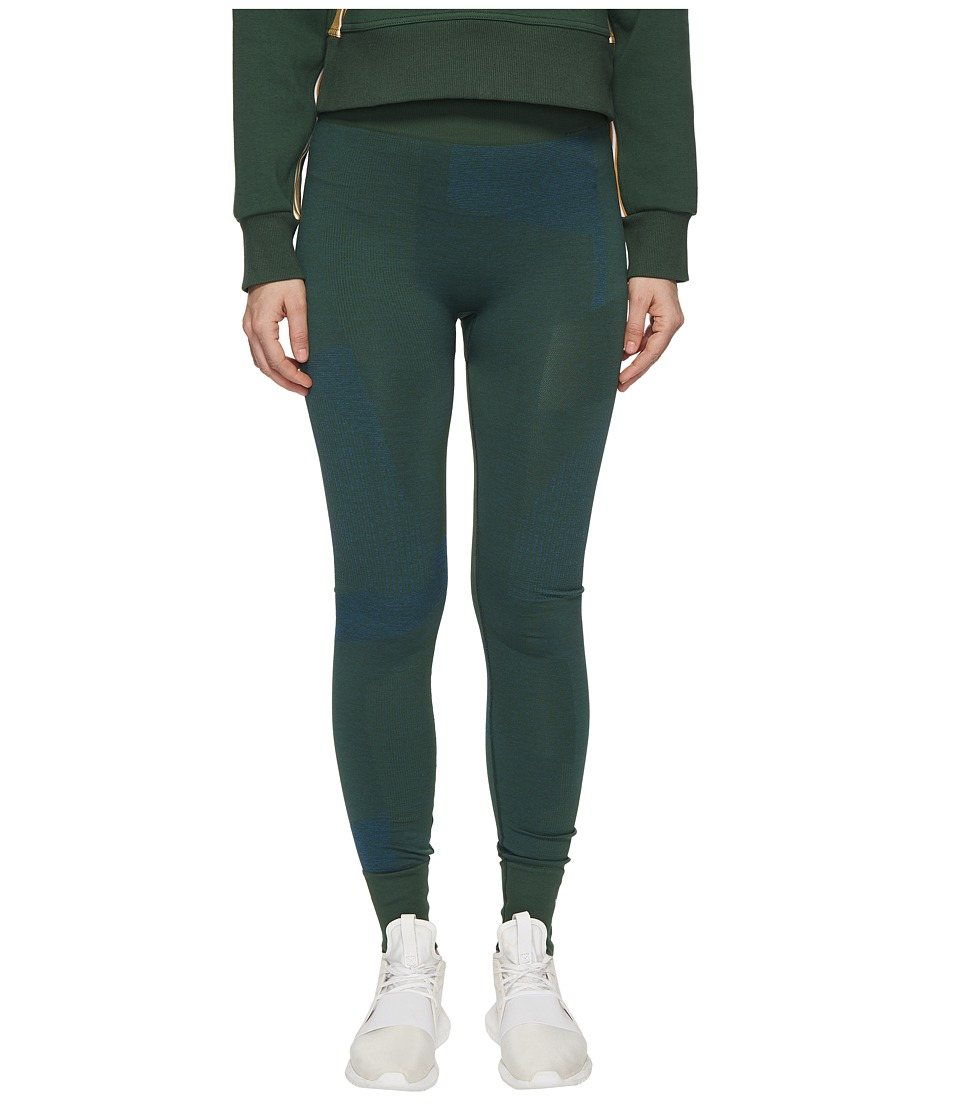 adidas by Stella McCartney - Training Seamless Block Tights CE8439 (Dark Green) Womens Casual Pants