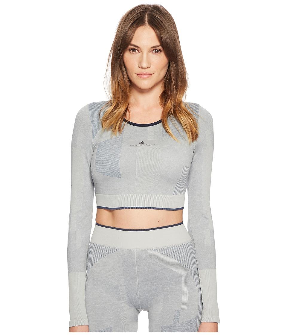 adidas by Stella McCartney - Training Seamless Block Crop CE8438 (Stone) Womens Clothing